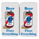 Beer Fixes Everything Food Humor Cartoon - Womens Taiga Hinge Wallet Clutch