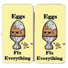 Eggs Fix Everything Food Humor Cartoon - Womens Taiga Hinge Wallet Clutch