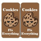 Cookies Fix Everything Food Humor Cartoon - Womens Taiga Hinge Wallet Clutch