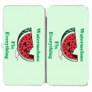 Watermelons Fix Everything Food Humor Cartoon - Womens Taiga Hinge Wallet Clutch