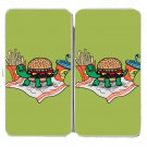 Turtle Burger Funny Shell Bun Fries w/ Meal - Womens Taiga Hinge Wallet Clutch