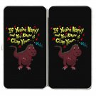 If You're Happy.. Can't Clap Funny Dinosaur - Womens Taiga Hinge Wallet Clutch