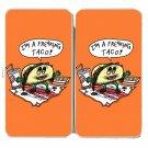 Freakin Taco Funny Mexican Food Cartoon - Womens Taiga Hinge Wallet Clutch