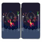 Acrobats at Circus Tent Colorful Artwork - Womens Taiga Hinge Wallet Clutch