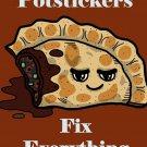 Potstickers Fix Everything Food Humor Cartoon - Rectangle Refrigerator Magnet