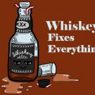 Whiskey Fixes Everything Drinking Humor - Rectangle Refrigerator Magnet