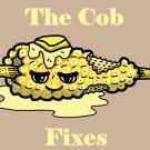 Corn on Cob Fixes Everything Food Humor Cartoon - Rectangle Refrigerator Magnet