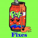 Soda Fixes Everything Food Humor Cartoon - Rectangle Refrigerator Magnet