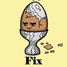 Eggs Fix Everything Food Humor Cartoon - Rectangle Refrigerator Magnet