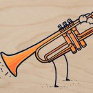 """Toot"" Funny Music Trumpet Fart Out Horn - Plywood Wood Print Poster Wall Art"