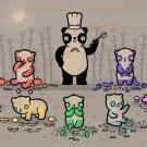 """No Artificial Colorings"" Gummy Bears Panda - Plywood Wood Print Poster Wall Art"