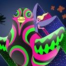 Bird Fairy Colorful Flying Cartoon Artwork - Rectangle Refrigerator Magnet