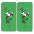 """Using Force"" Rabbit & Turtle Physics Science - Womens Taiga Hinge Wallet Clutch"