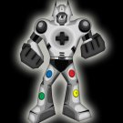 Playbot Funny Giant Robot Video Game Controller - Vinyl Sticker