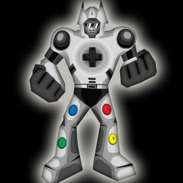 Playbot Funny Giant Robot Video Game Controller - Vinyl Sticker
