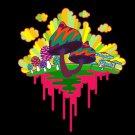 Drippy Mushrooms Funny Hippy Shroom Dripping Design Artwork - Vinyl Sticker