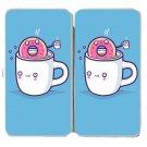 """Coffee With Friends"" Mug & Donut Drink Brew - Womens Taiga Hinge Wallet Clutch"