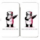 """Black, White, & Red All Over"" Funny Panda - Womens Taiga Hinge Wallet Clutch"