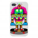 Punk Skate Totem Skateboarding Artwork - FITS iPhone 4 4s Plastic Snap On Case