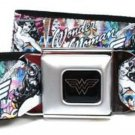 DC Comics Wonder Woman Seatbelt Belt - Wonder Woman Sketch Scene & Power