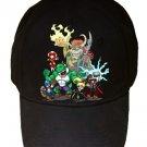 "Game Parody ""The Plungers"" Comic Super Hero Movie - Black Adjustable Cap Hat"