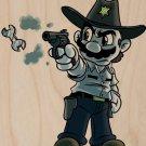 "Parody ""Walking Plumbers"" TV Character 5 - Plywood Wood Print Poster Wall Art"