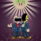 Video Game Parody Punk Singers w/ Mushroom - Plywood Wood Print Poster Wall Art
