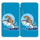 """Pirate Giraffe"" Riding Shark Jumping Water - Womens Taiga Hinge Wallet Clutch"