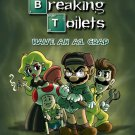 """Video Game Parody """"Breaking Toilets"""" TV Show - Rectangle Refrigerator Magnet"""