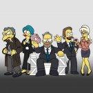 Cartoon TV Show Parody of Political TV Show Logo Cast - Vinyl Sticker