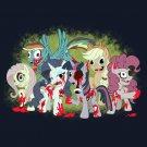 My Little Zombies Parody Zombie Dead TV Show Logo w/ Horses - Vinyl Sticker
