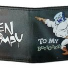 "Ren & Stimpy Bi-Fold Wallet - Logo w/ ""Cling Tenaciously to my Buttocks!"" Humor"