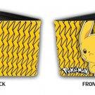 Pokemon Monsters Pikachu Closeup w/ Lightning Bolts Bi-Fold Wallet