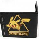 Pokemon Monsters Pikachu Jumping Triangle Yellow & Black Bi-Fold Wallet
