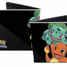 Pokemon Monsters Pikachu, Bulbasaur, Charmander, Squirtle Black Bi-Fold Wallet