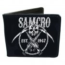 Sons of Anarchy SOA TV Show - SAMCRO Skull Anarchy Guns & Sickles Bi-Fold Wallet