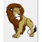 """""""Lion"""" Big Cat Animal Standing on Light - FITS iPhone 4 4s Plastic Snap On Case"""