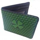 Lucky 4 Leaf Clover w/ Small Clovers Pattern Bi-Fold Wallet