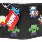 Marvel Comics Bi-Fold Wallet - The Avengers Miniatures Design on Black