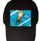 """Part-Time JOB Aquarium"" Super Hero Comic Parody - Black Adjustable Cap Hat"