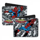 Marvel Comics Bi-Fold Wallet - The Amazing Spiderman Action Poses Black & White