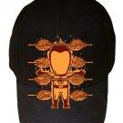 """Part-Time JOB Chicken Shop"" Super Hero Comic Parody - Black Adjustable Cap Hat"