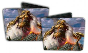 Magic The Gathering Bi-Fold Wallet - Logo Mystical Fantasy Warrior Giant Hammer