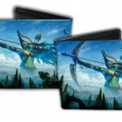 Magic The Gathering Bi-Fold Wallet - Logo w/Mystical Fantasy Warrior Bow & Arrow