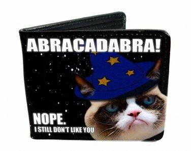 "Grumpy Cat - ""ABRACADABRA! Nope, I Still Don't Like You"" Leather Bi-Fold Wallet"