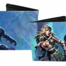 Dungeons and Dragons Bi-Fold Wallet - Medieval Characters Good Vs. Bad Warriors