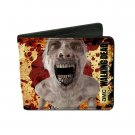 Walking Dead TV Show - Closeup Zombie Rotting Flesh Design Bi-Fold Wallet