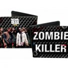 """Walking Dead TV Show - """"Zombie Killer"""" w/ Group Chain Link Fence Bi-Fold Wallet"""