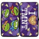 Teenage Mutant Ninja Turtles Bi-Fold Hinge Wallet - I Love Heart TMNT w/ Pizza