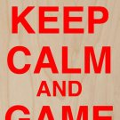 Keep Calm & Game On Vintage Game Controller - Plywood Wood Print Poster Wall Art